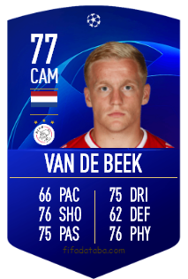 Donny van de Beek FIFA 19 Rating, Card, Price