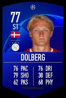 Kasper Dolberg FIFA 19 Rating, Card, Price
