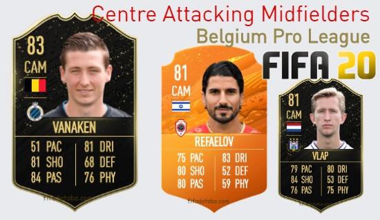 Belgium Pro League Best Centre Attacking Midfielders fifa 2020
