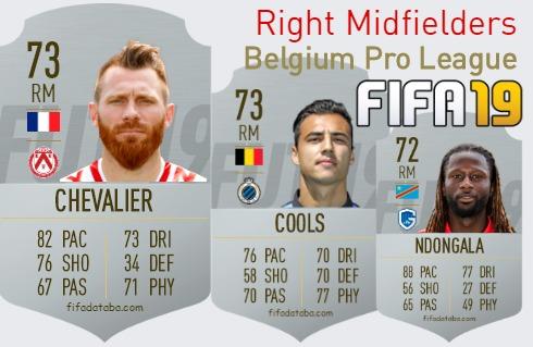 Belgium Pro League Best Right Midfielders fifa 2019