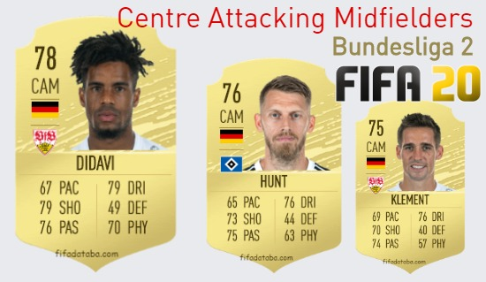 Bundesliga 2 Best Centre Attacking Midfielders fifa 2020