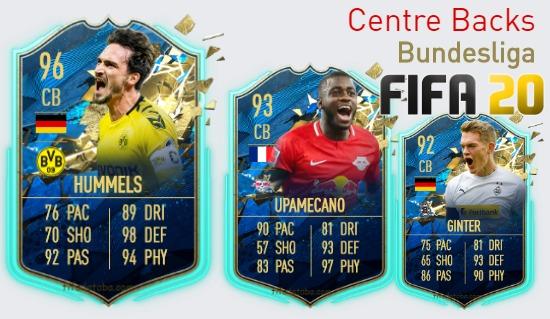 FIFA 20 Bundesliga Best Centre Backs (CB) Ratings