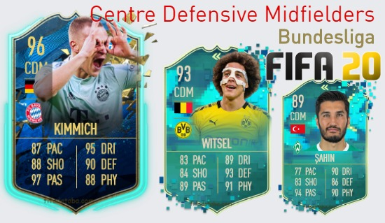 Bundesliga Best Centre Defensive Midfielders fifa 2020