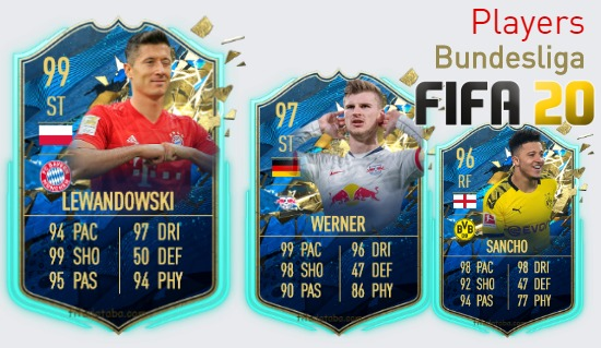 FIFA 20 Bundesliga Best Players Ratings