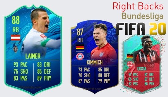 Bundesliga Best Right Backs fifa 2020