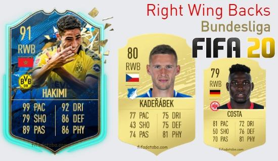 Bundesliga Best Right Wing Backs fifa 2020