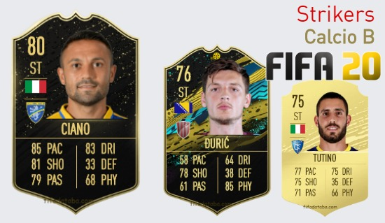 Calcio B Best Strikers fifa 2020