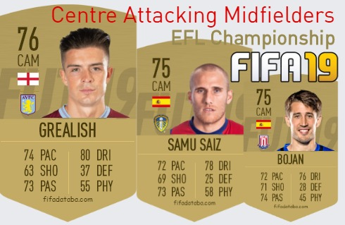 EFL Championship Best Centre Attacking Midfielders fifa 2019