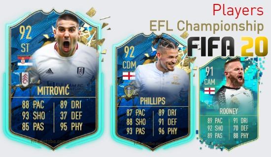 FIFA 20 EFL Championship Best Players Ratings