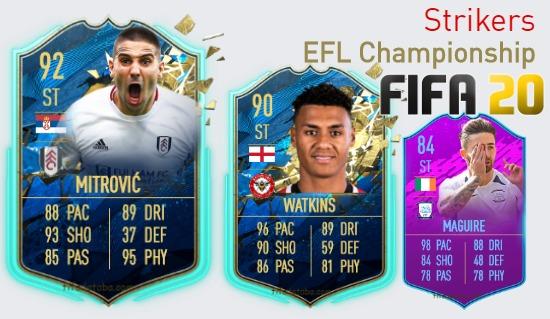 EFL Championship Best Strikers fifa 2020