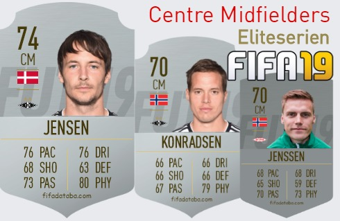 Eliteserien Best Centre Midfielders fifa 2019