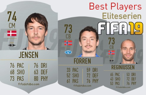 FIFA 19 Eliteserien Best Players Ratings