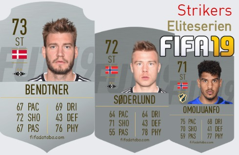 Eliteserien Best Strikers fifa 2019