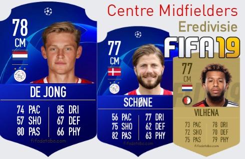 Eredivisie Best Centre Midfielders fifa 2019