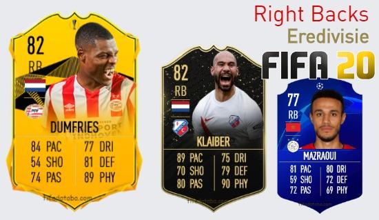 Eredivisie Best Right Backs fifa 2020