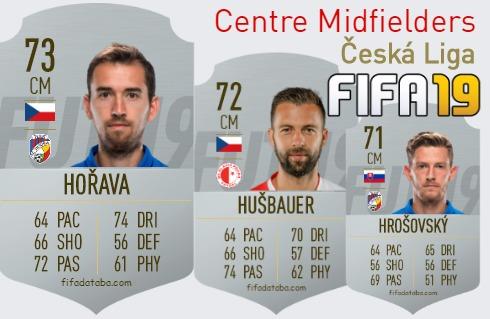 Česká Liga Best Centre Midfielders fifa 2019