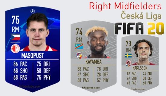 Česká Liga Best Right Midfielders fifa 2020