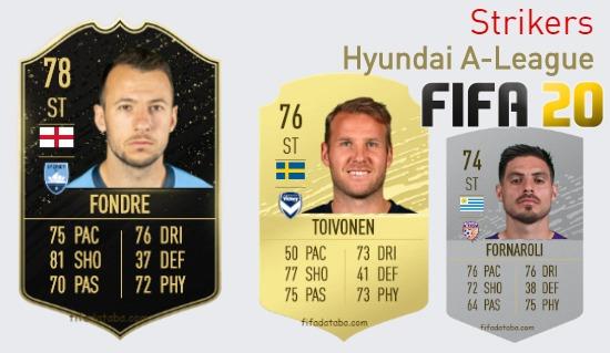 Hyundai A-League Best Strikers fifa 2020