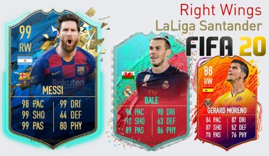 LaLiga Santander Best Right Wings fifa 2020