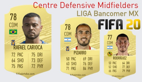 LIGA Bancomer MX Best Centre Defensive Midfielders fifa 2020