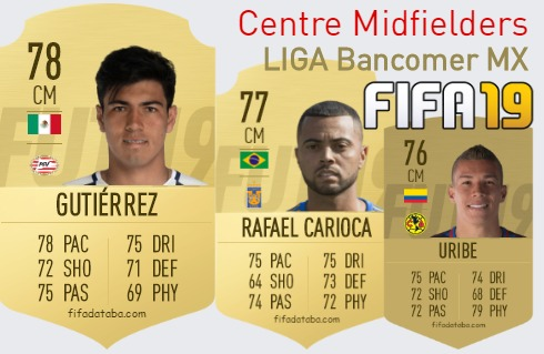 LIGA Bancomer MX Best Centre Midfielders fifa 2019