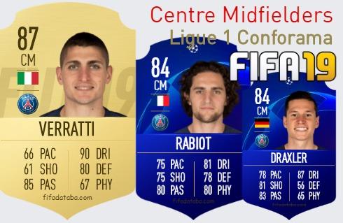 Ligue 1 Conforama Best Centre Midfielders fifa 2019