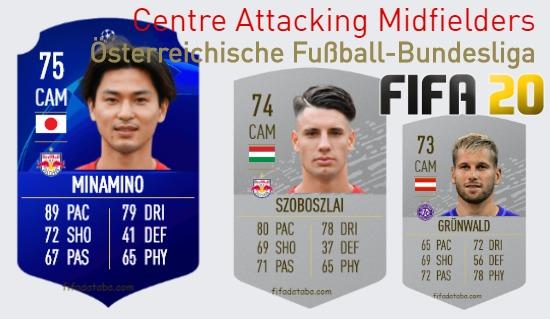 Österreichische Fußball-Bundesliga Best Centre Attacking Midfielders fifa 2020