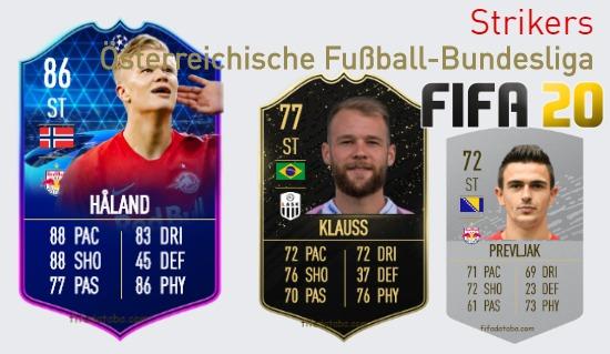 Österreichische Fußball-Bundesliga Best Strikers fifa 2020