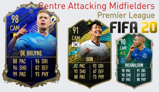Premier League Best Centre Attacking Midfielders fifa 2020