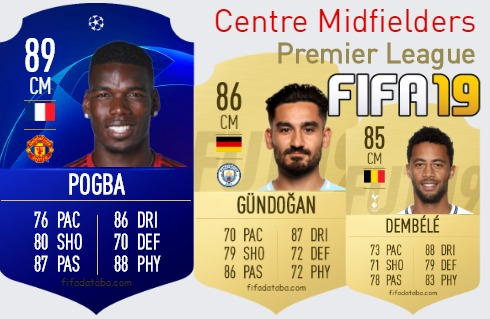 Premier League Best Centre Midfielders fifa 2019