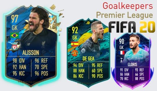 Premier League Best Goalkeepers fifa 2020