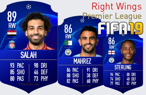 Premier League Best Right Wings fifa 2019