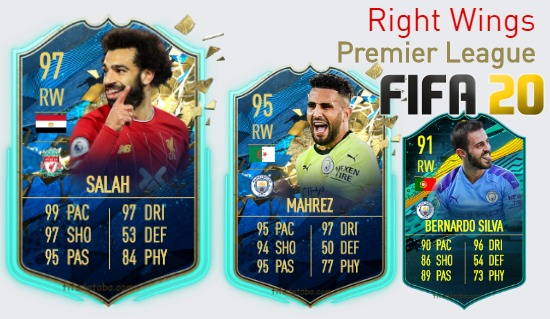 Premier League Best Right Wings fifa 2020