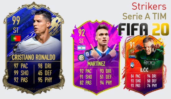 Serie A TIM Best Strikers fifa 2020