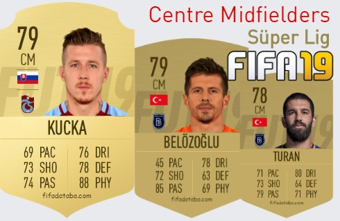 Süper Lig Best Centre Midfielders fifa 2019