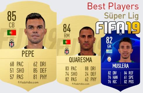 FIFA 19 Süper Lig Best Players Ratings