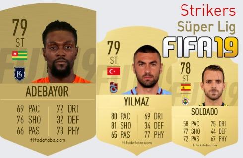 FIFA 19 Süper Lig Best Strikers (ST) Ratings