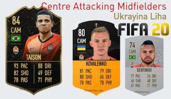 Ukrayina Liha Best Centre Attacking Midfielders fifa 2020