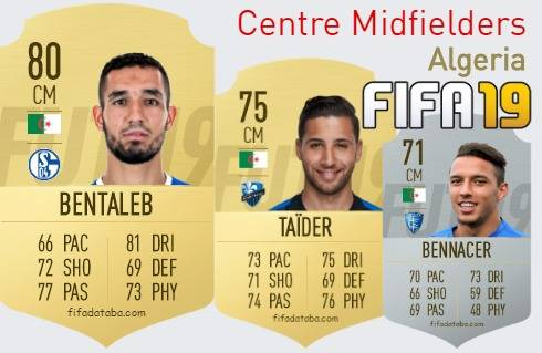Algeria Best Centre Midfielders fifa 2019