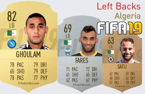 Algeria Best Left Backs fifa 2019