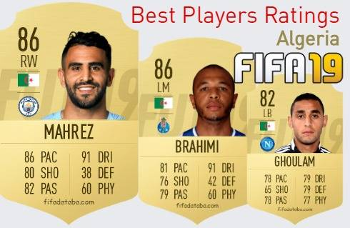 FIFA 19 Algeria Best Players Ratings