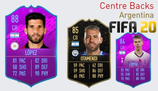 Argentina Best Centre Backs fifa 2020