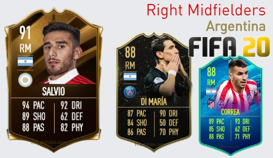 Argentina Best Right Midfielders fifa 2020