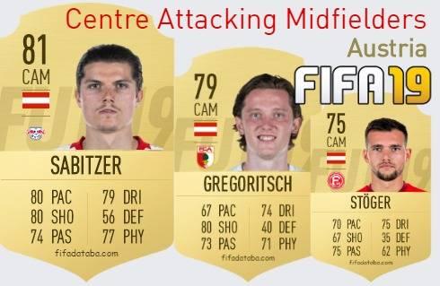 Austria Best Centre Attacking Midfielders fifa 2019