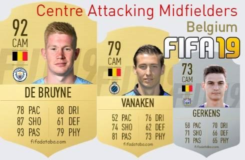 Belgium Best Centre Attacking Midfielders fifa 2019