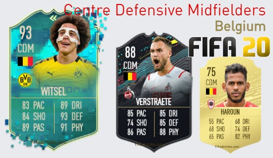 Belgium Best Centre Defensive Midfielders fifa 2020