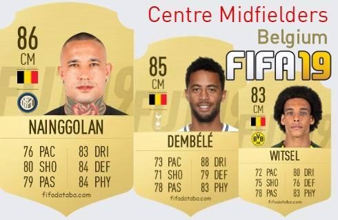 Belgium Best Centre Midfielders fifa 2019