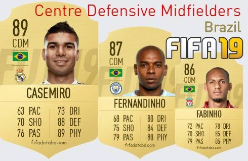 Brazil Best Centre Defensive Midfielders fifa 2019