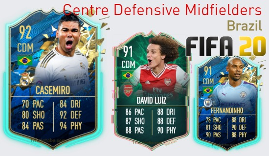 Brazil Best Centre Defensive Midfielders fifa 2020