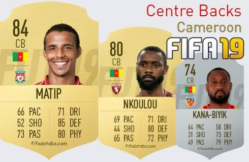 Cameroon Best Centre Backs fifa 2019